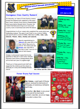 Weekly Newsletter W/E  29th November