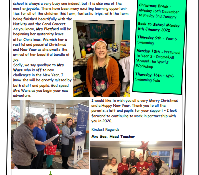 Weekly Newsletter w/e 12th December 2019