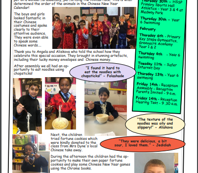 Weekly newsletter w/e 24th January 2020