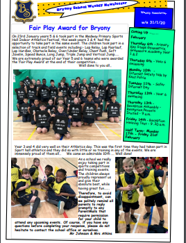 Weekly Newsletter w/e 31st January 2020