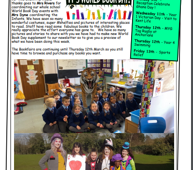 Weekly Newsletter w/e 6th March 2020