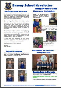 Weekly Newsletter w/e 2nd October 2020