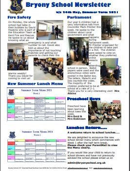 Newsletter w/e 28th May 2021
